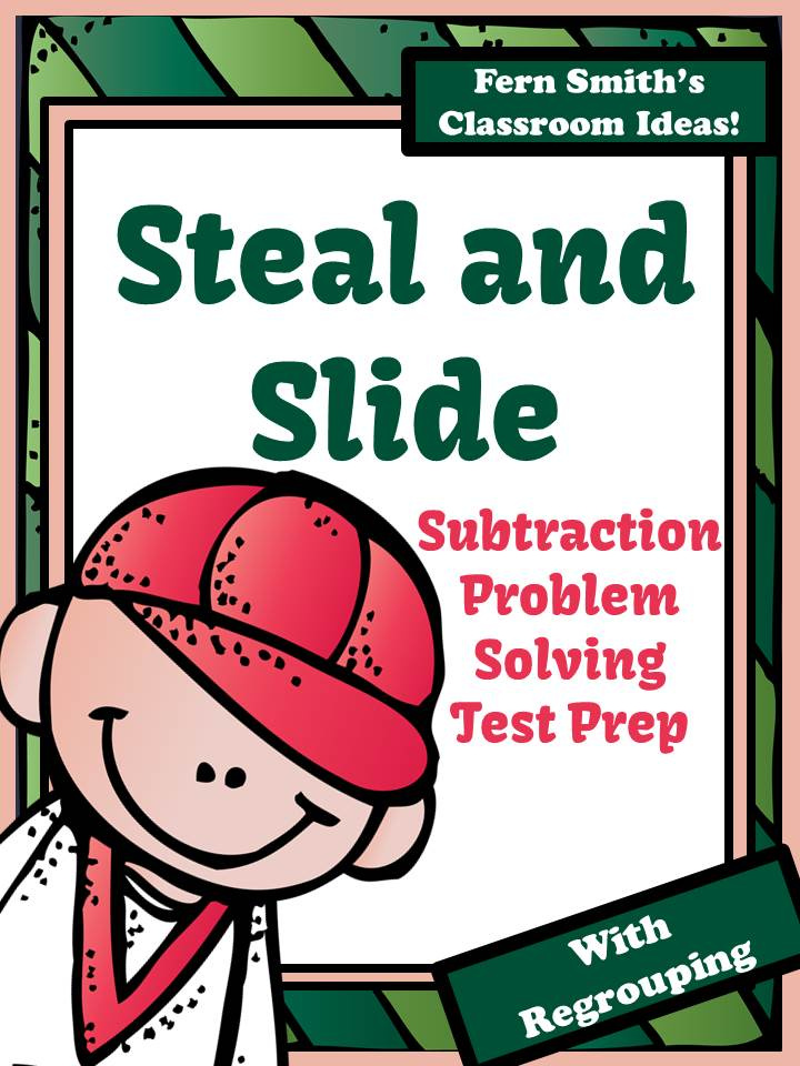 Fern Smit's Classroom Ideas Test Prep Baseball's Steal and Slide Method - Subtraction With Regrouping