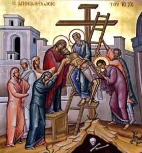 Christ is taken down from the cross