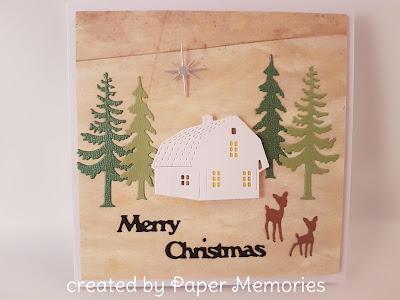 Weihnachten, Bäume, Haus, Rehkitz, Frohe Weihnachten