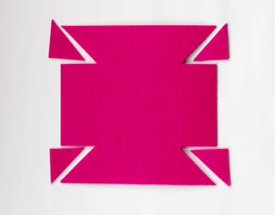 box top template - Caixinha de feltro