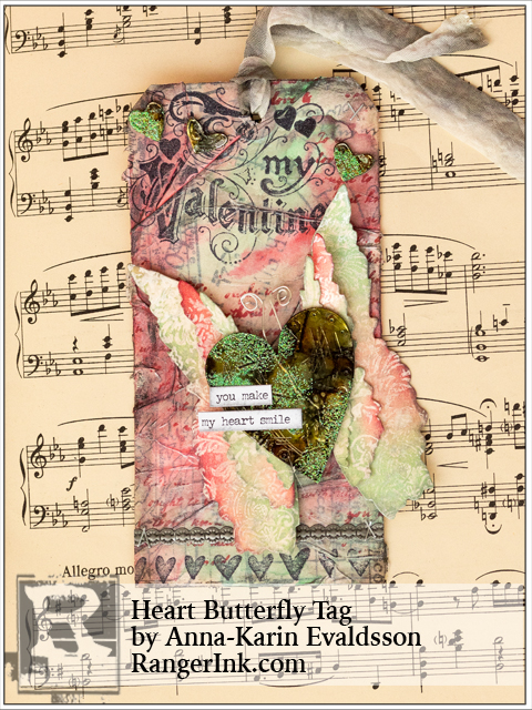Layers of ink - Heart Butterfly Tag tutorial by Anna-Karin, Ranger Ink Guest Design post