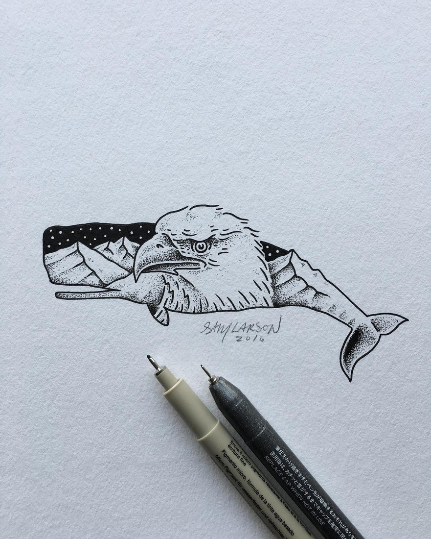21-Whale-Eagle-Sam-Larson-Injection-of-Inspiration-in-Diverse-Drawings-www-designstack-co