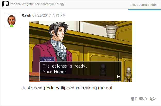 Phoenix Wright Ace Attorney Trials and Tribulations Miles Edgeworth the defense is ready Your Honor