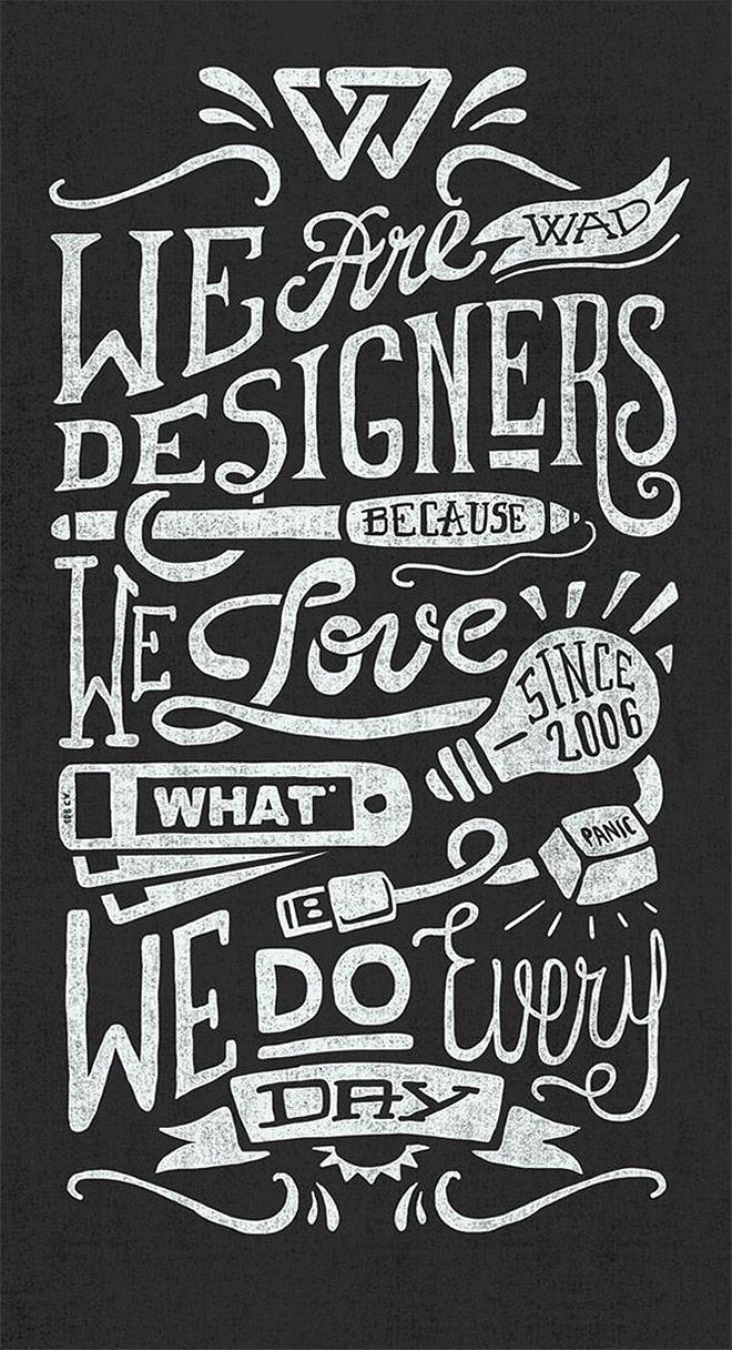 Inspirasi desain tipografi terbaik dan terbaru - We Are Designers by Fivestar