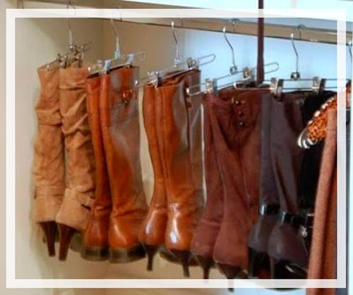 Idea central guatemala 10 ideas creativas para organizar for Ganchos para colgar botas