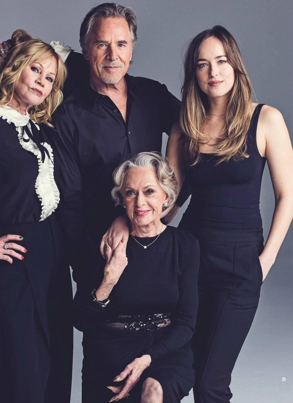 Dakota, Don, Tippi and Melanie for ¡Hola! Magazine ...