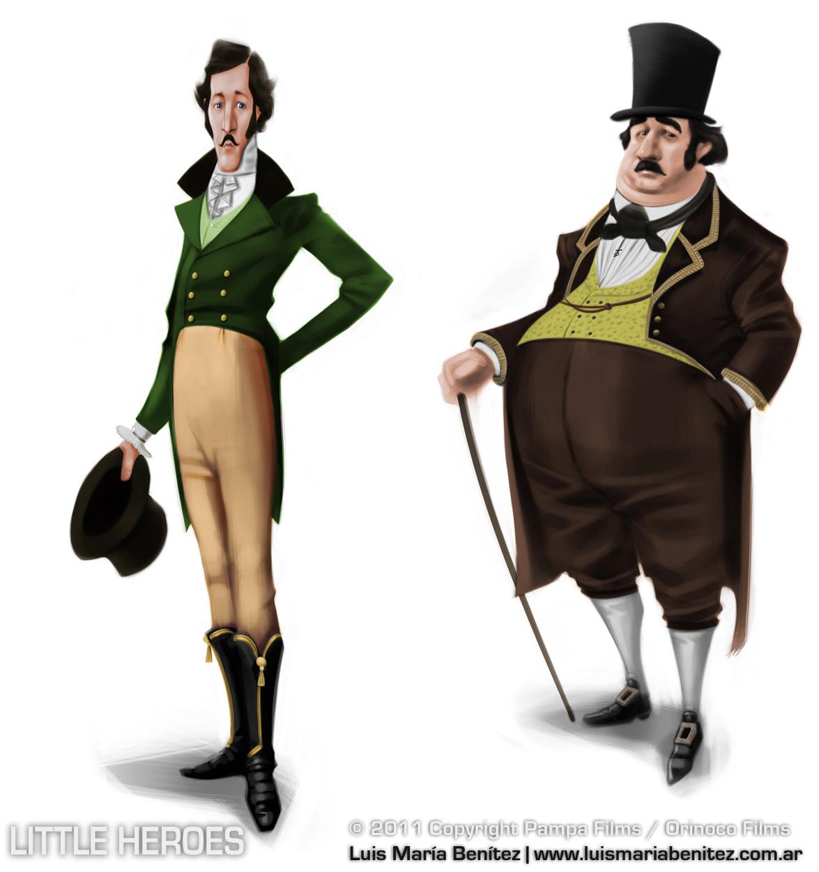 2 personajes / 2 characters © Luis María Benítez