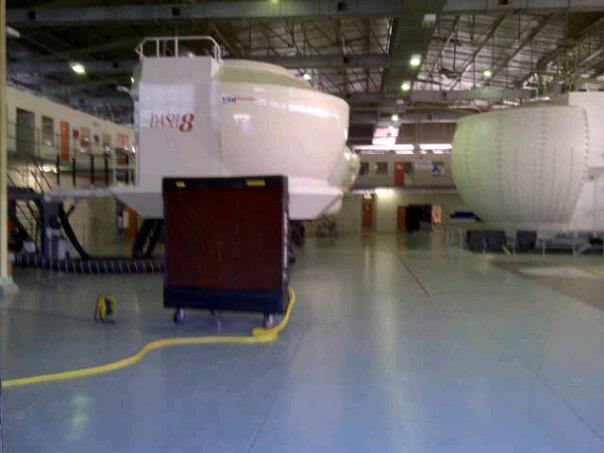 Portable evaporative aircooling flight simulator | PORTABLE