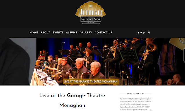 The Ultimate Big Band Show Website designed by Opus Web Design