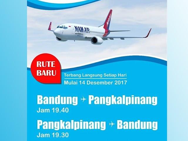 Jadwal Penerbangan NAM Air Rute Bandung - Pangkalpinang