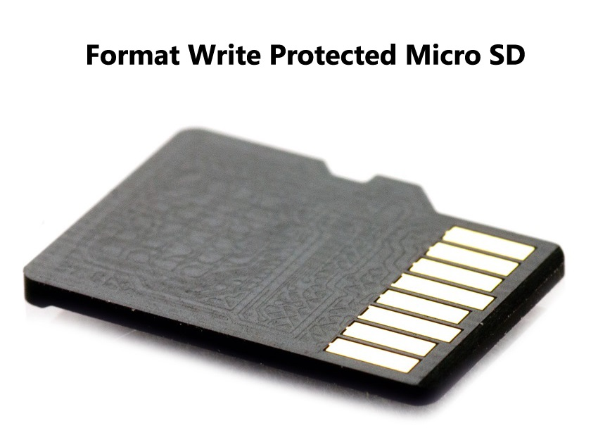 how to fix write protected micro sd card