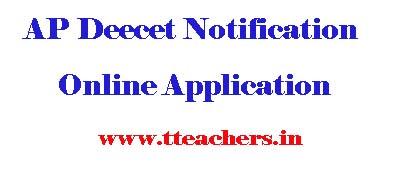 AP Deecet Online Application AP Dietcet 2016 Notification