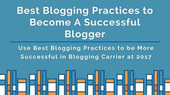 Best blogging practices
