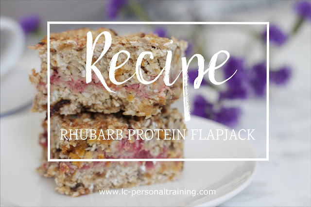 Recipe: Rhubarb Protein Flapjacks