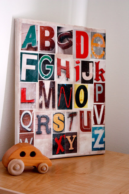 Go On A Letter Hunt Throughout Your Neighborhood And Take Pictures Of All The Letters You Can Find Print Out Photos Use Modge Podge To Adhere