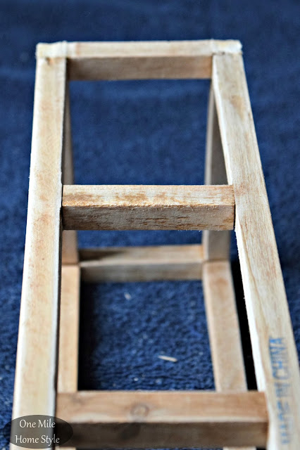 Tabletop Ornament Display Frame, Before: Create and Share Challenge | One Mile Home Style