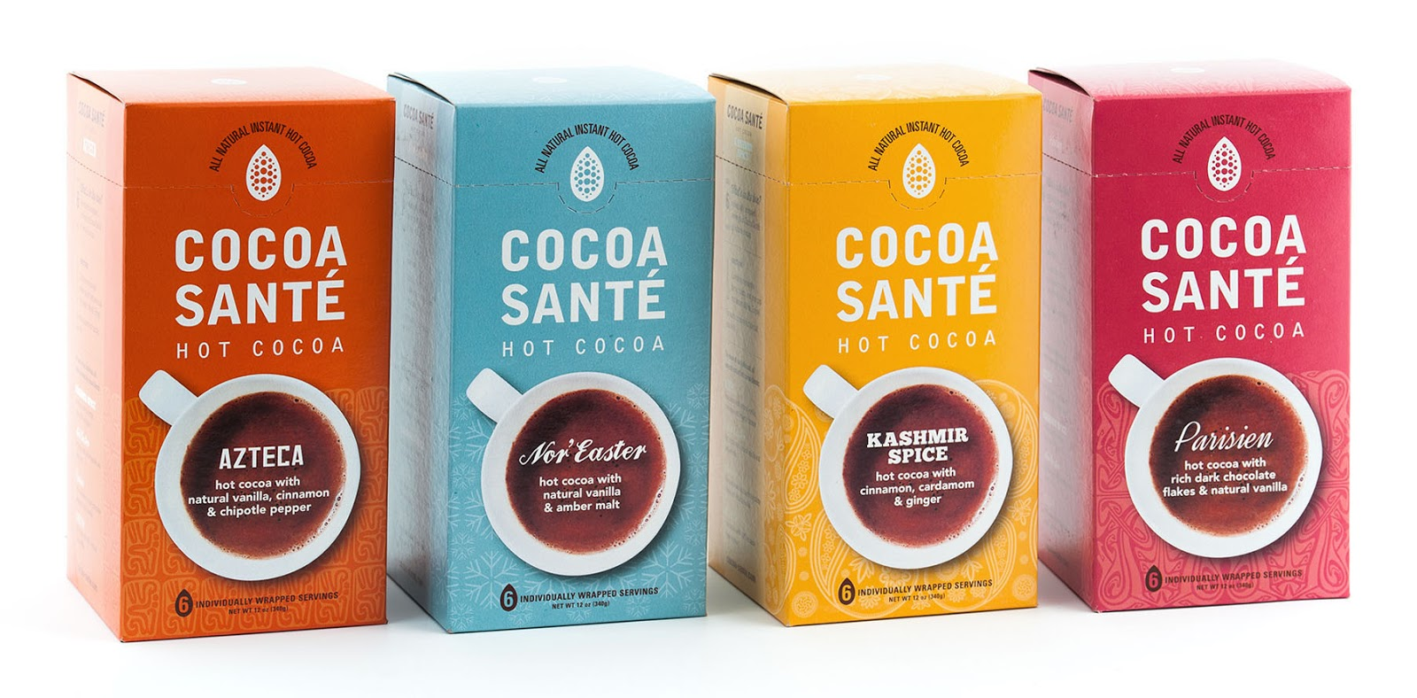 Cocoa Santé Hot Cocoa on Packaging of the World