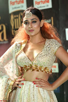 Apoorva Spicy Pics in Cream Deep Neck Choli Ghagra WOW at IIFA Utsavam Awards 2017 44.JPG