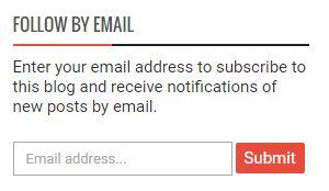 Follow by e-mail blogger widget new