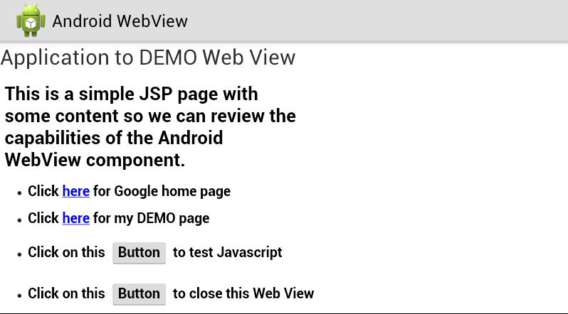 Programmers Sample Guide: Android WebView Example