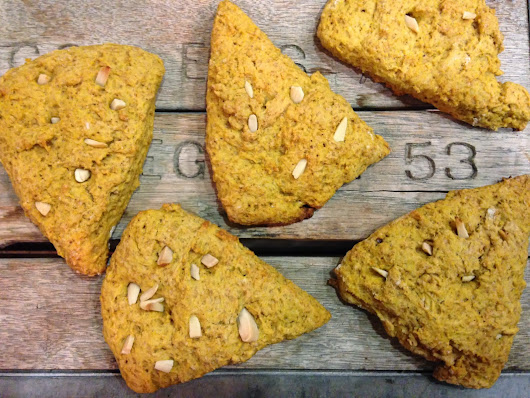 Pumpkin Spice Scones + Toasted Almonds