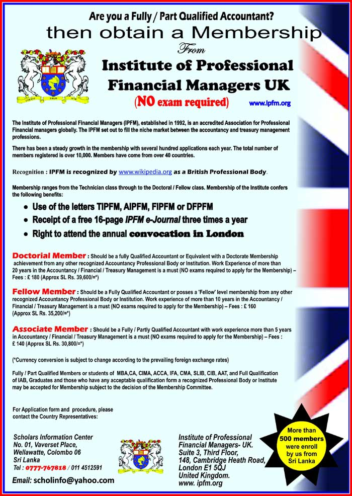 Fully / Part Qualified Accountant?? - Obtain a British Membership