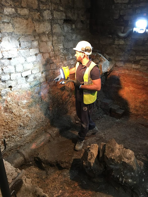 Archaeologists begin re-excavating hidden Roman bath at the Roman Baths