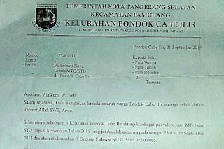 Contoh Surat Proposal Permohonan Bantuan Dana Ke Kelurahan