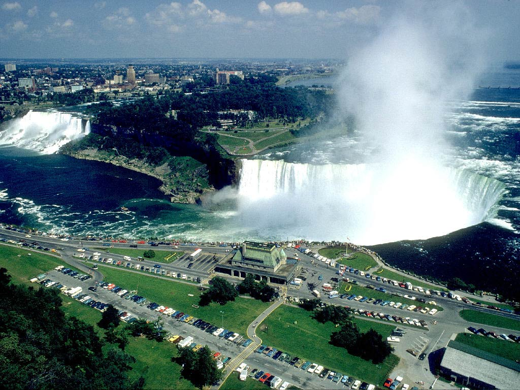 World Visits: Welcome To Niagara Falls Colorful View In ...
