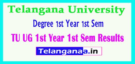 TU UG 1st Year 1st Sem Results Telangana University  1st Year 1st Sem Results 2018