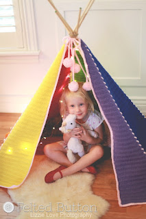 Todddler Teepee Crochet Pattern by Susan Carlson of Felted Button