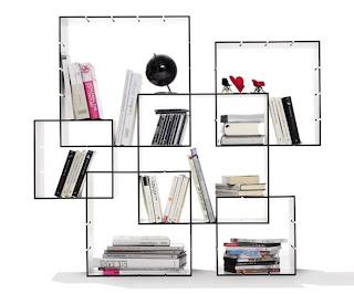 Librero para armar con cuadrados