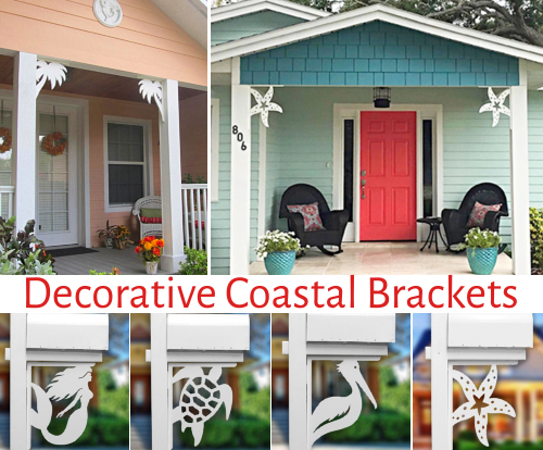 Decorative Coastal Brackets for Home & Mailbox