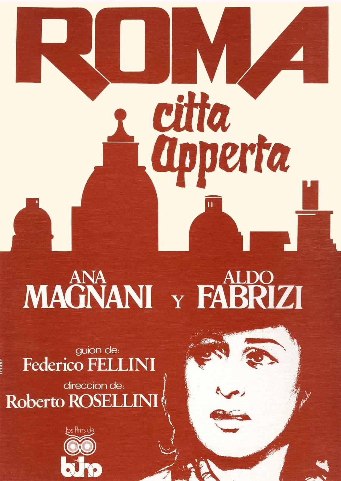 Cartel de la película : Roma, ciudad abierta de Roberto Rossellini