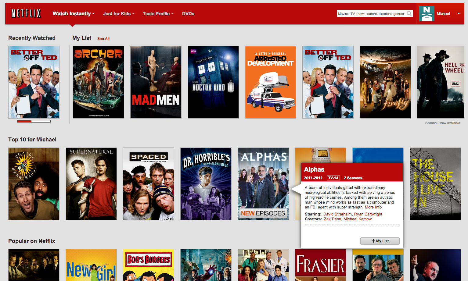 Netflix us canada blog august 2013 - Home shows on netflix ...