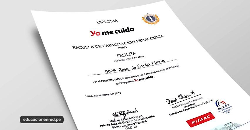 Colegio Rosa de Santa María gana el 1er Puesto en Buenas Prácticas Docentes «Yo me cuido» Nivel Primaria - www.yomecuido.com.pe