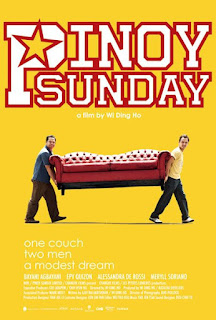 Pinoy Sunday is about two Overseas Filipino workers who get themselves in an adventure all over Taipei when they discover an abandoned red couch.