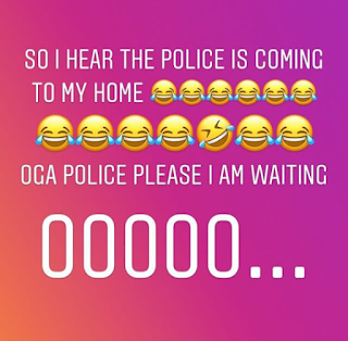 police after Tonto Dikeh