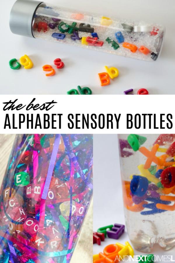 Alphabet sensory bottles for autism and hyperlexia