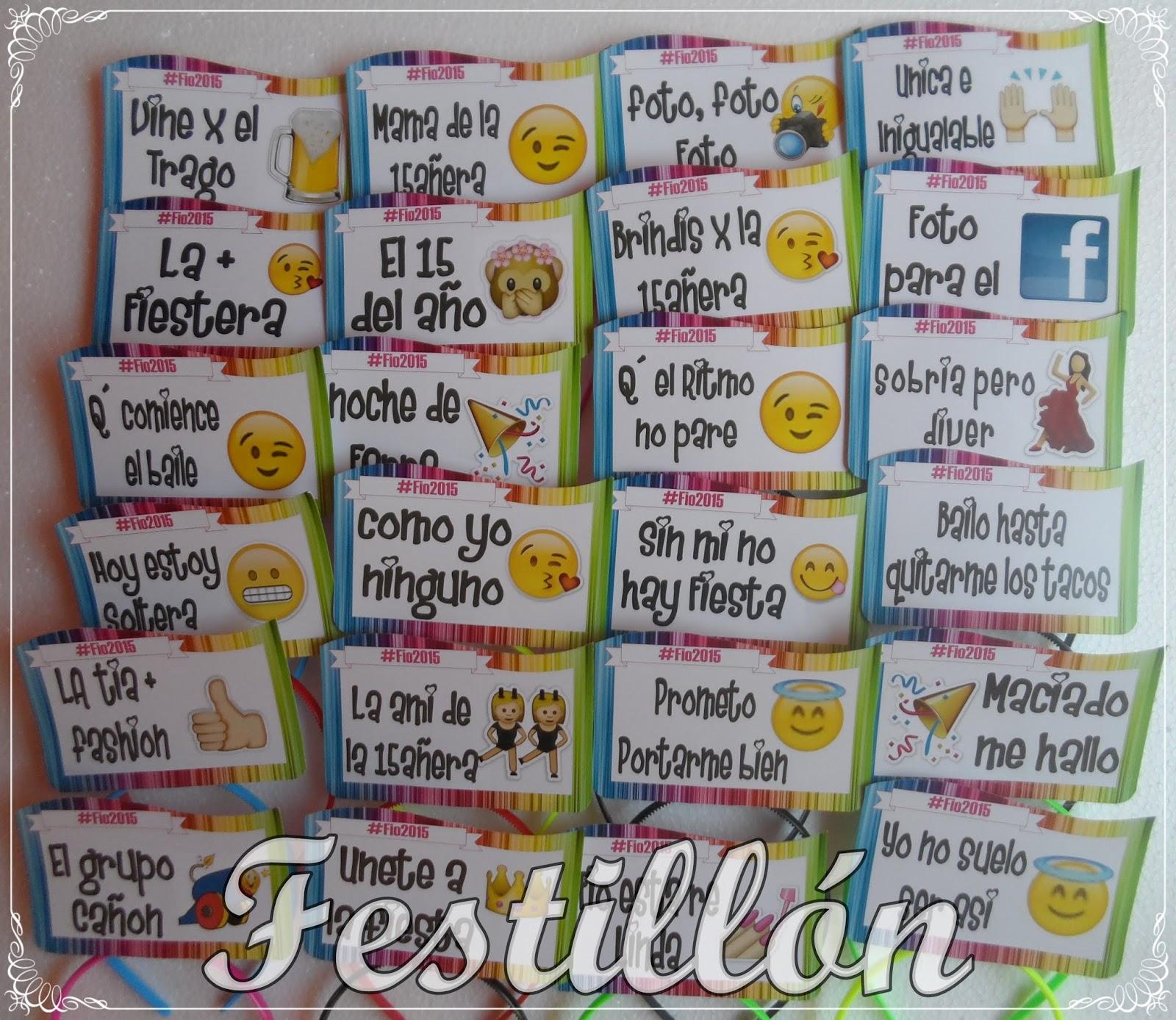 Festillón Las Mejores Vinchas Y Corbatas Con Frases Para 15