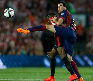 Sergio Busquets in action