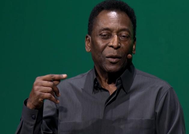 Pelé soccer FIFA 2016 Electronic Arts E3 2015 microphone tumor cancer growth Pele