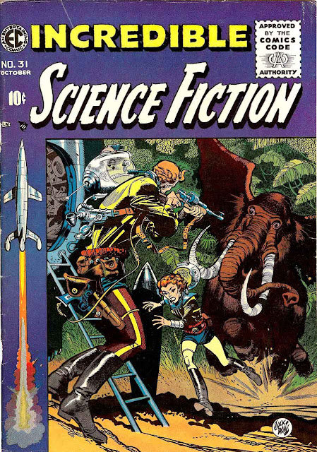 Incredible Science Fiction v1 #31 ec comic book cover art by Jack Davis