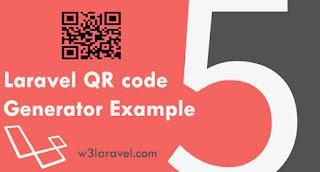 Laravel- QR code generator example using Simple QrCode