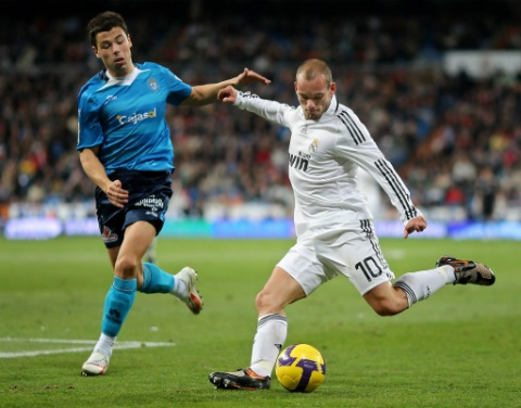 Sneijder trong màu áo Real Madrid
