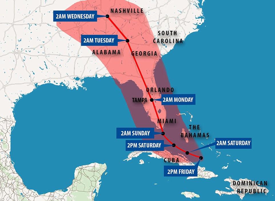 Hurricane Irma Tracking Chart