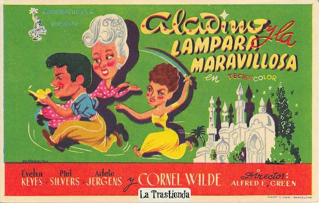 Programa de Cine - Aladino y la Lámpara Maravillosa - Evelyn Keyes - Phil Silvers
