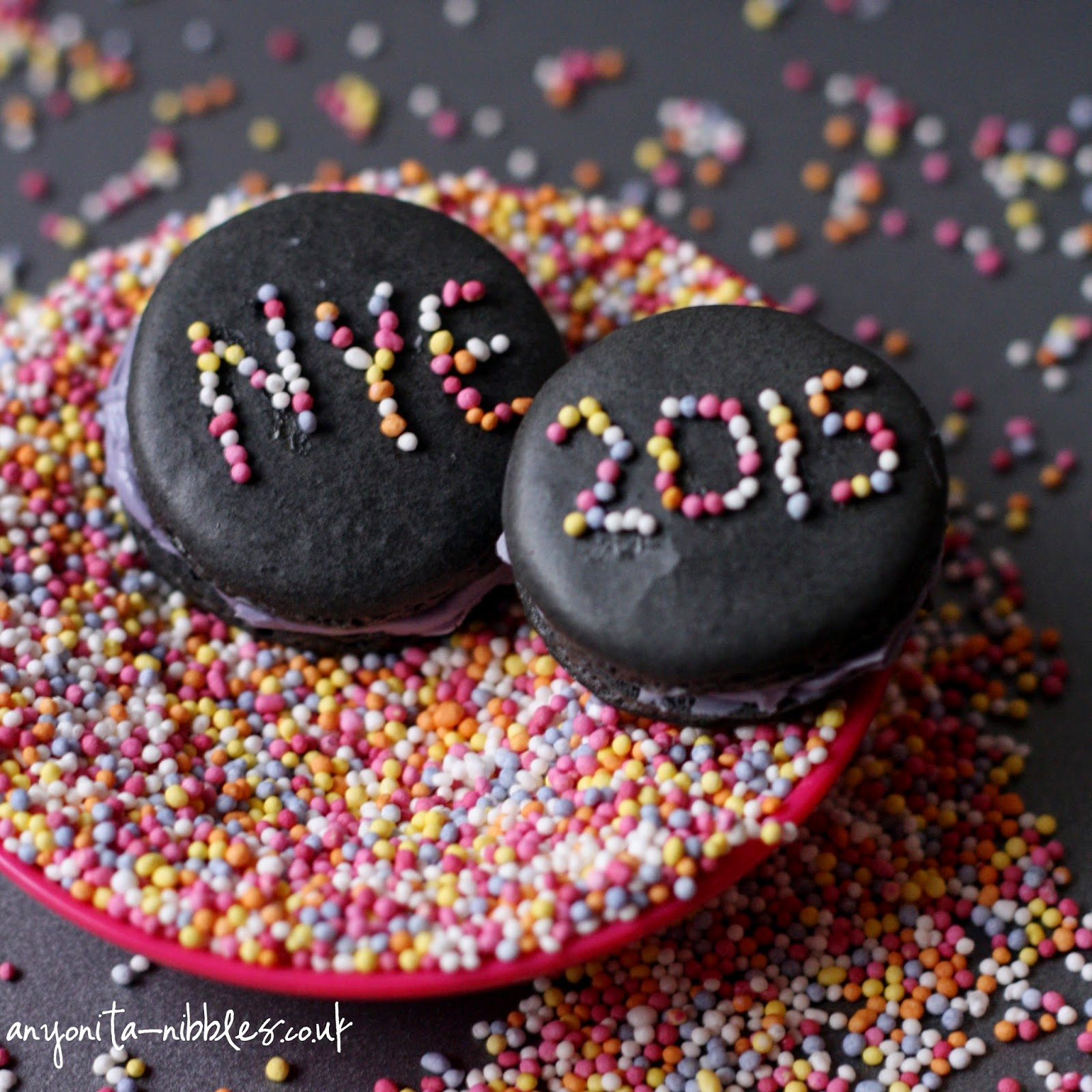 NYE 2015 Macarons from Anyonita-nibbles.co.uk