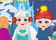 Frozen New Year Elsa y Jack Slacking