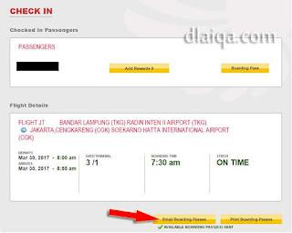 klik Email Boarding Passes